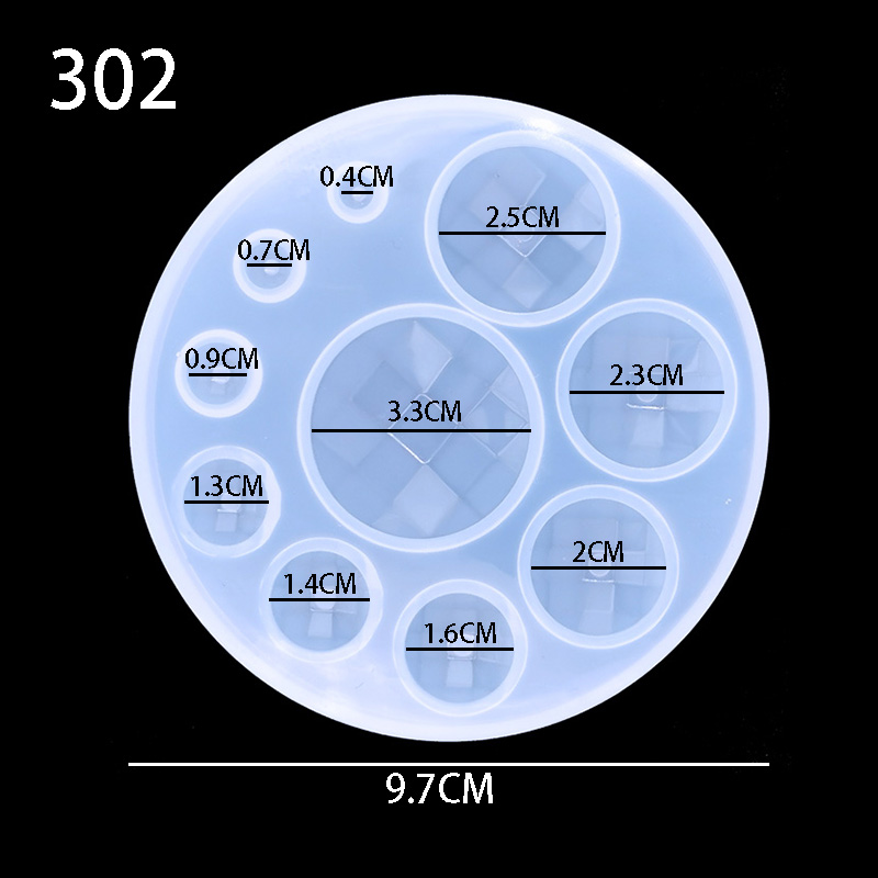 1PC Water Crystal Glue Round  Circle Pendant Silicone UV Mold For Making Pedant Jewelry Exoxy Resin Molds Jewelry Tools