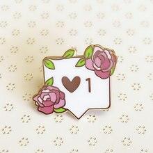 Любовное письмо розы твердым эмалиевым покрытием pin великолепные