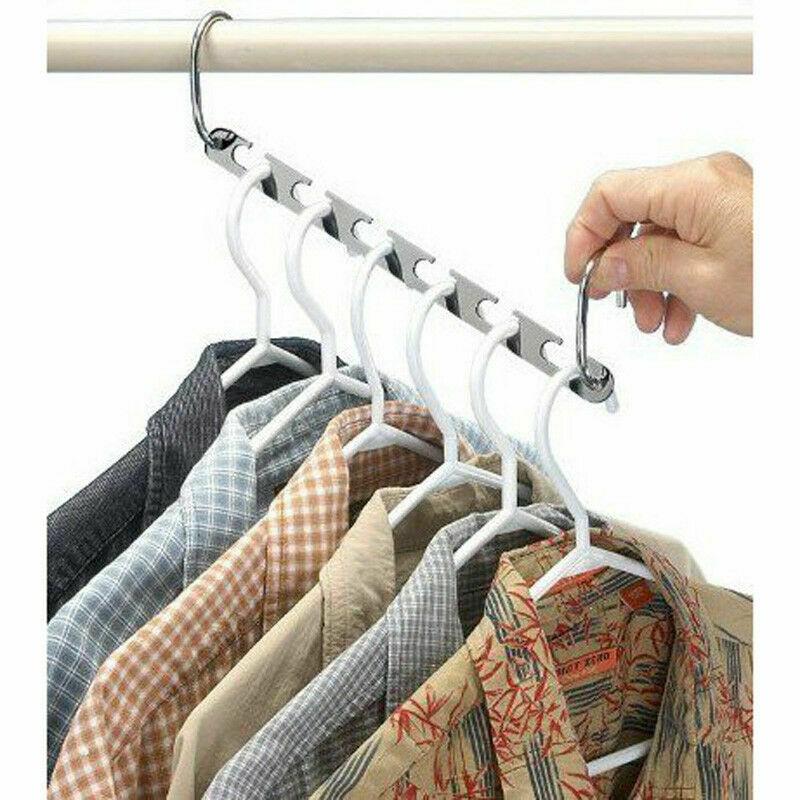 Hot Magic Metal Wonder Closet Hook Space Saving Clothes Abs Rack Hanger Organizer Multifunctional Folding Metal Clothes Hanger