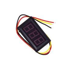 Постоянный ток 0-30 в 0-100 в 0,56 дюйма 3 провода светодиодный цифровой вольтметр измеритель напряжения вольт инструмент DIY Домашнее использование три цифровых постоянного тока метр