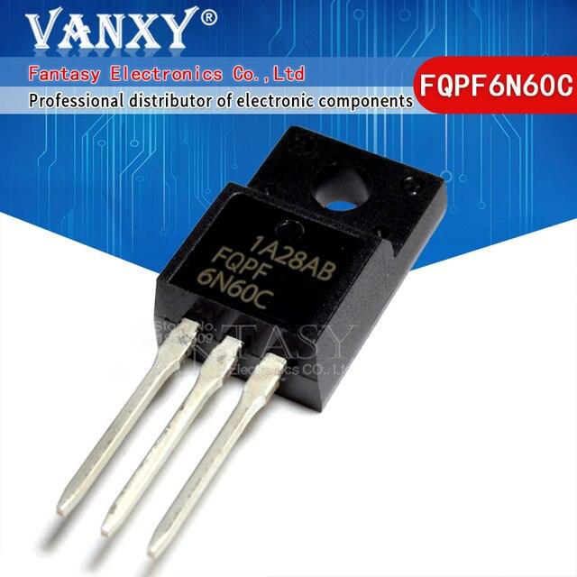 100 قطعة FQPF6N60C إلى 220 6N60C 6N60 FQPF6N60 TO220 TO 220F جديد MOS FET الترانزستور
