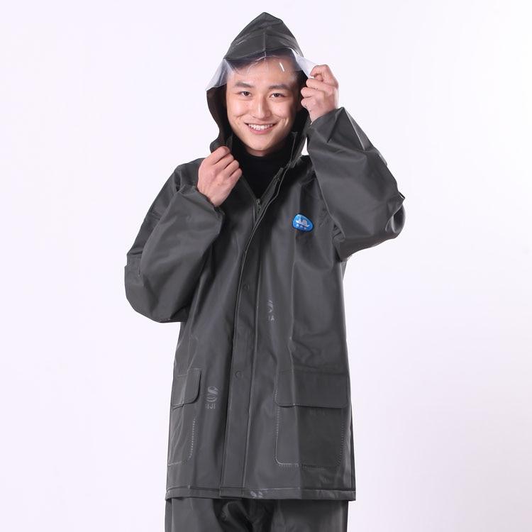 Waterproof Jacket Raincoat Rain Coat Hooded Poncho Rainwear Unisex J