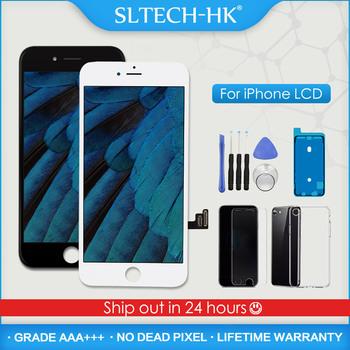 AAA + + + dla iPhone 5S 6 6S 7 8 Plus wyświetlacz LCD z zamiennikiem ekranu dotykowego 3D dla iPhone X XR XS Max OLED True Tone tanie i dobre opinie SLTECH-HK NONE CN (pochodzenie) Pojemnościowy ekran 1920x1080 3 LCD For iPhone 5 6 7 8 X XR XS Display Screen LCD i ekran dotykowy Digitizer