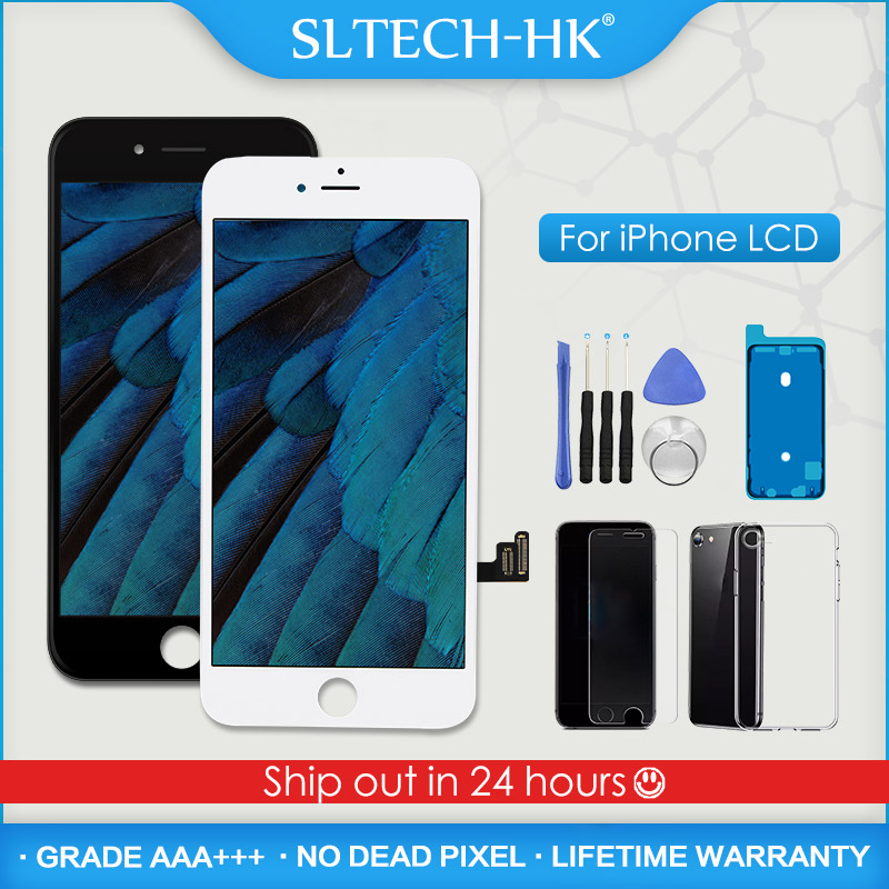 ААА + + + для iPhone 5S 6, 6S, 7, 8 plus, цифровой преобразователь ЖК-дисплея с 3D с сенсорным экраном для сборки, запасные части для iPhone X XR XS Max OLED True Tone