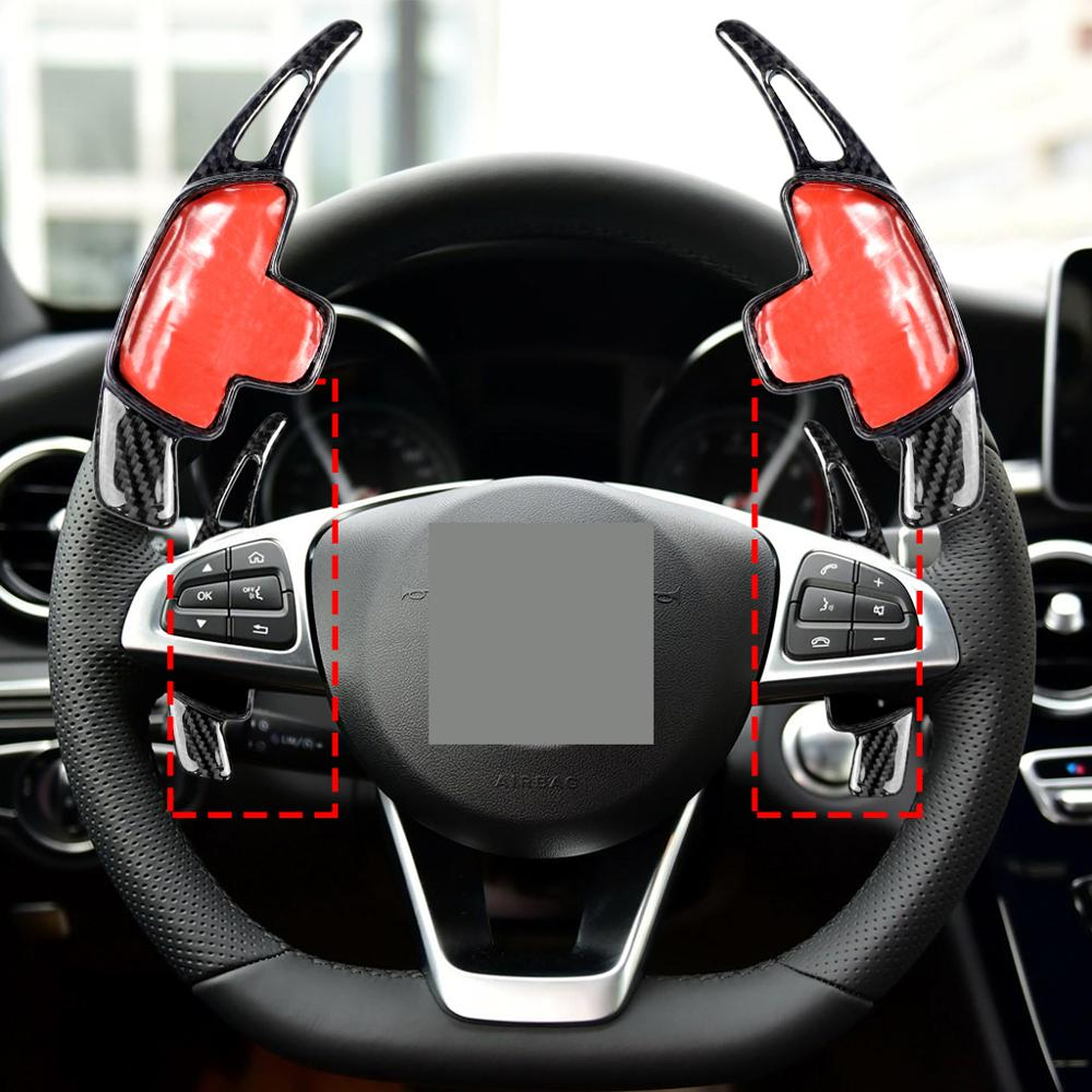 Car Styling Carbon Fiber Steering Wheel Shift Paddle Extension Shifter For <font><b>Mercedes</b></font> Benz <font><b>AMG</b></font> A45 <font><b>CLA45</b></font> C63 GLA45 GLS63 GLE63 G63 image
