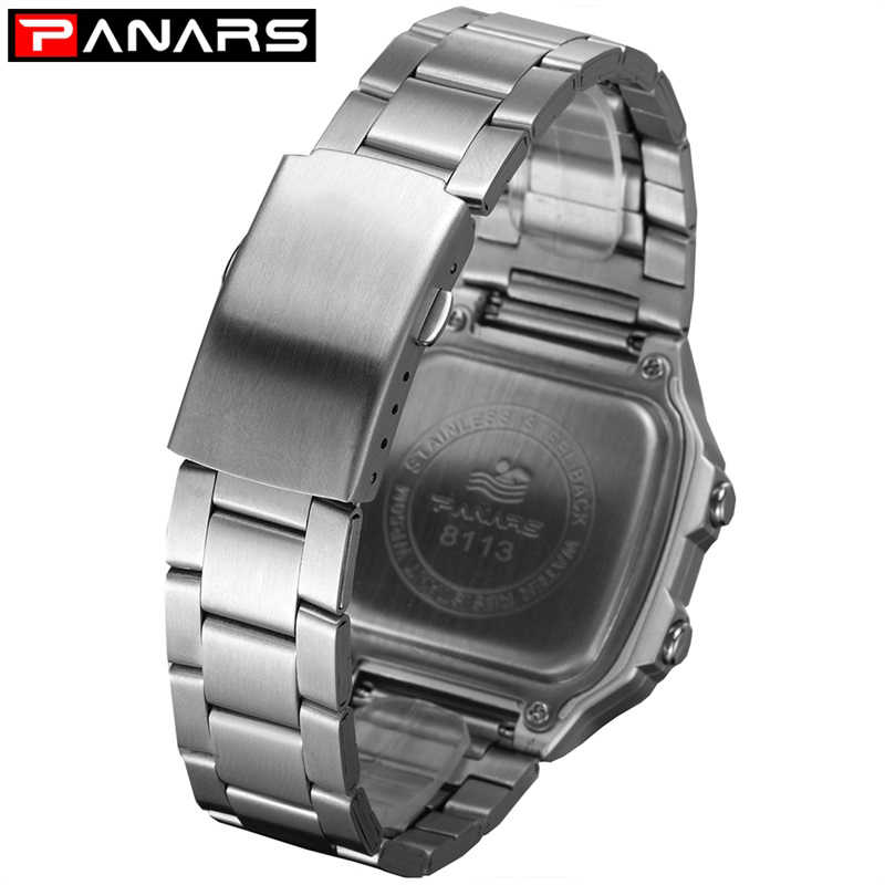 高級ブランド男性スポーツ腕時計クロノビジネス電子デジタル腕時計メンズ時計金属ストラップ耐衝撃防水 Wacth