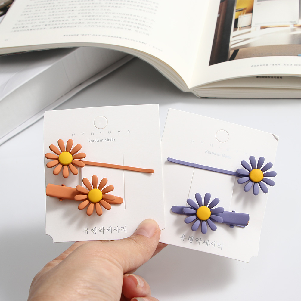 2pcs/set Korean Fresh Pretty Frosted Snap Barrette Baby Girls Candy Color Hairpin Hair Clips Hair Accessories Jewelry
