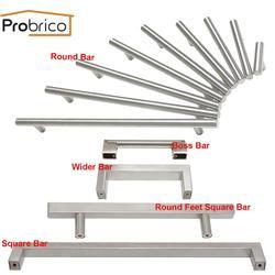 Probrico квадратные ручки для шкафа, круглые ручки для ящиков, нержавеющая сталь, ручка дверного шкафа для кухни, Современная фурнитура для мебе...