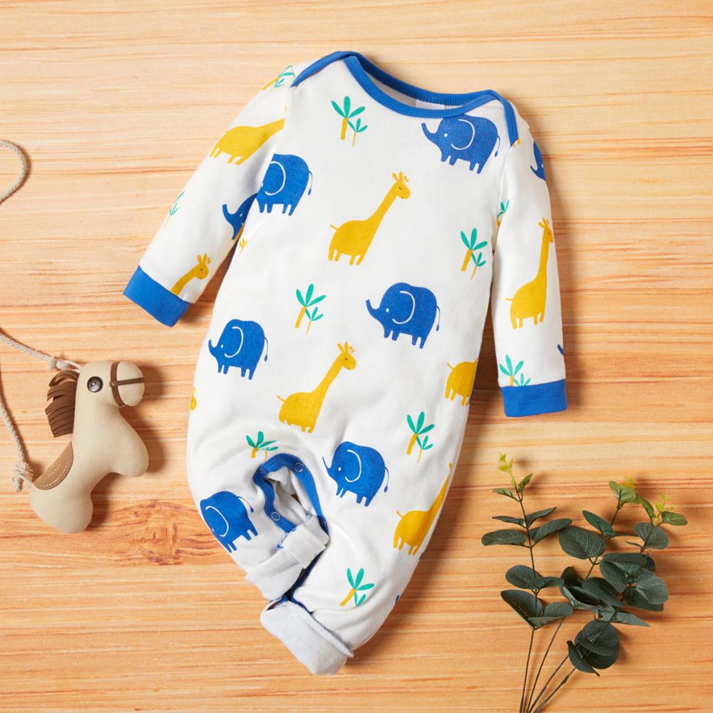 PatPat 2021 Новое поступление осень-зима 3 штуки в упаковке Детские Жираф комбинезоны, комплекты для маленьких мальчиков и одежда для девочек из одного предмета 4