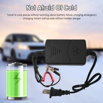 12V Car Charger Truck Motorcycle Smart Car Battery Charger Maintainer Amp Volt Trickle Car Battery Charger EU/US TXTB1 image