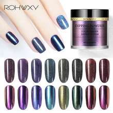 ROHWXY 10 ML Chameleon Powder Shining Holographic Glitter Powder Mirror Effect Nail Dipping System Without Lamp Cure Natural Dry(China)