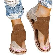 Sandalias planas SAGACE para Mujer, tallas grandes 43, zapatos de playa de tacón plano de fondo suave, Chanclas, sandalias antideslizantes, calzado para Mujer de verano