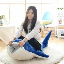 100CM Big size Whale Pillow Shark Doll Plush Toy Underwater World Doll Cute Whale Stuffed toy for gifts Home Decoration toys