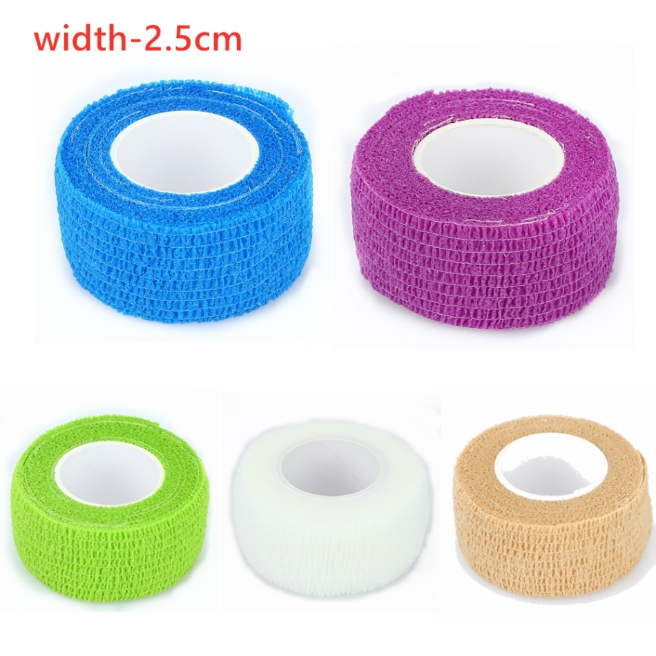 1/3/5Pcs Medical Therapy Self Adhesive Bandage Wrist Waterproof Muscle Tape Finger Joints Wrap First Aid Kit Pet Elastic Bandage