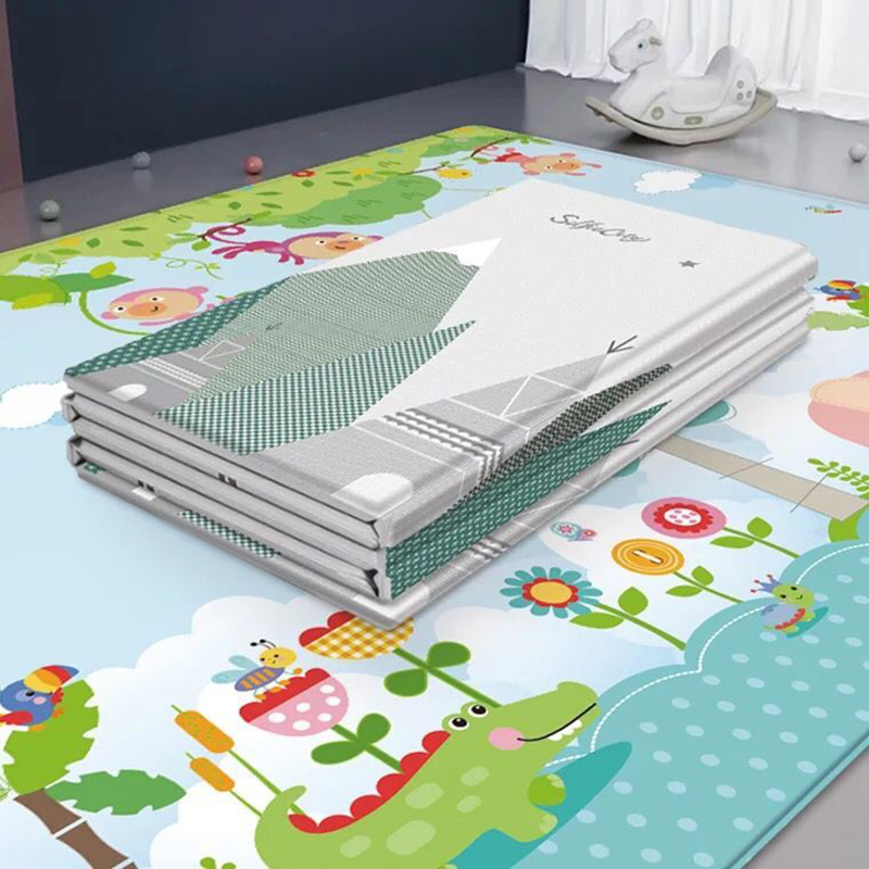 Children's Crawling Mat Double-sided Waterproof Soft Foam Nursery Rug Carpet Large Foldable Baby Play Puzzle Mat Room Decor