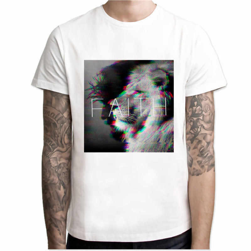 Männer T-shirts Sommer Die Kreuz Bäume Mann T Shirts Jesus Glauben Kurzarm T-shirts Casual Streetwear Fashion Jesus Christus Kreuz