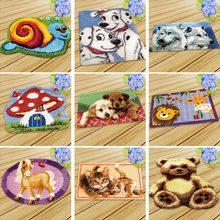 Knoopkussen Dieren Carpet Embroidery Cushion Latch Hook Tapijt Kussen Knooppakket Foamiran For Needlework Rug Kit Diy