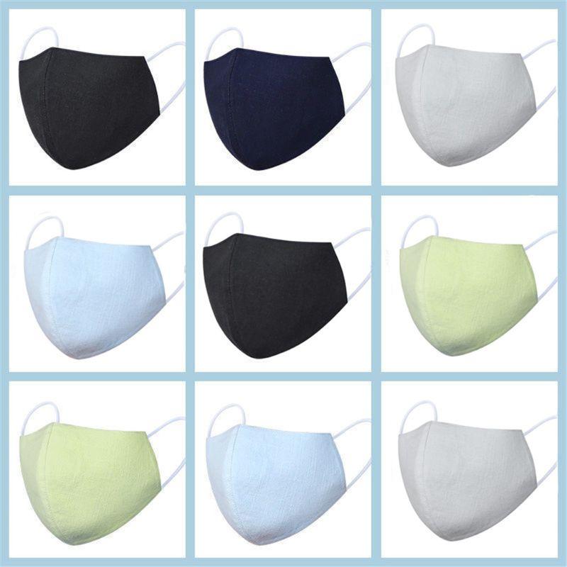 1 Pcs Linen Cotton Sunscreen Mouth Mask Anti Dust Washable Face Mask Reusable