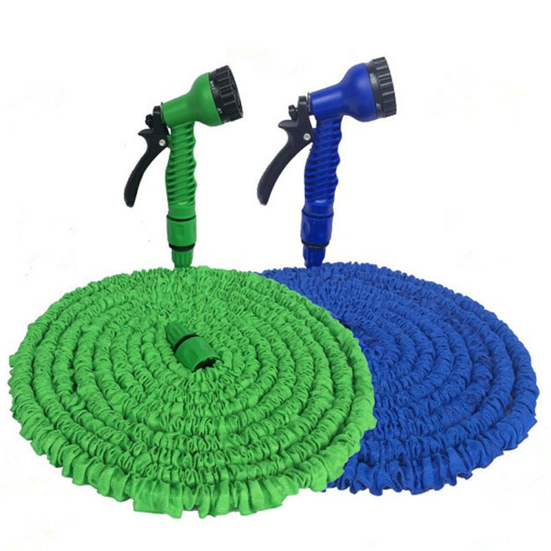 25-200FT Expandable Garden Magic Hose Telescopic Water Pipe Irrigation Watering Spray Car Wash Plastic Pressure Gun Clean Tools