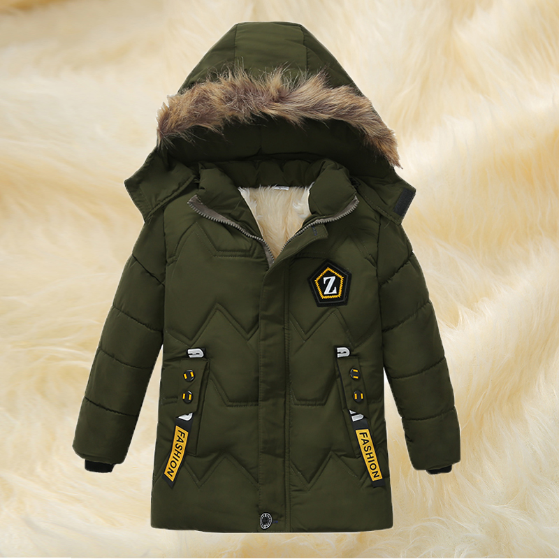 Toddler Baby Boy Girl Hooded Jacket Coat Kid Thicken Winter Warm Outerwear 3-11T