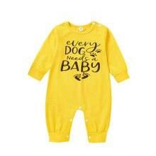 Одежда для маленьких мальчиков и девочек; Комбинезон с буквенным