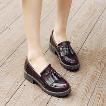 Kadın oxford bahar ayakkabı deri makosenler kadın sneakers kadın oxfords bayanlar tek ayakkabı 2020 yaz ayakkabı üzerinde kayma
