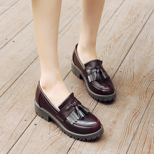 Women oxford Spring shoes leather loafers for woman sneakers female oxfords ladies single shoes 2020 slip on summer shoes
