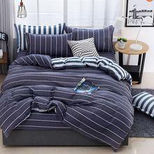 4Pcs/Set Bedding Set Bed Textile Products 21Style Aloe Cotton Leaves Stripes Sheet Pillowcase & Duvet Cover