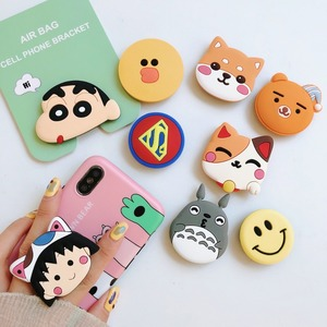 Image 2 - Universal Socket Phone Stand Bracket Expanding Stand Stretch Grip Phone Holder Finger Cute Cartoon Stand for Iphone 6s 7 8 X XS