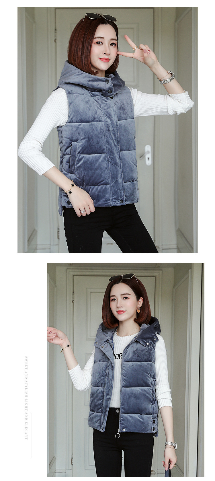 2020 Casual Autumn Waistcoat Slim Women Winter Vest Solid Jackets Thermal Cotton Hooded Vest Female Plus Size