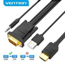 Vention cavo da HDMI a VGA cavo da HDMI maschio a VGA maschio cavo convertitore Audio Video 1080P per PC TV Box proiettore cavo HDMI VGA