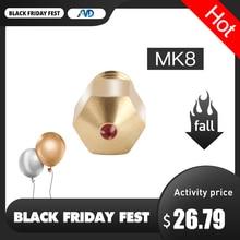 Bico ruby mk8 com bico de 1.75mm, bico de rubi com 0.4mm, alta temperatura, mk8, para petg, abs, animais de estimação, peek, nylon i3 ender cr10