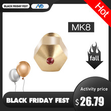 MK8 רובי נחיר 1.75mm חרירי 0.4mm גבוהה טמפרטורת רובי MK8 זרבובית עבור PETG PET ABS הצצה ניילון PRUSA i3 אנדר CR10 Hotend