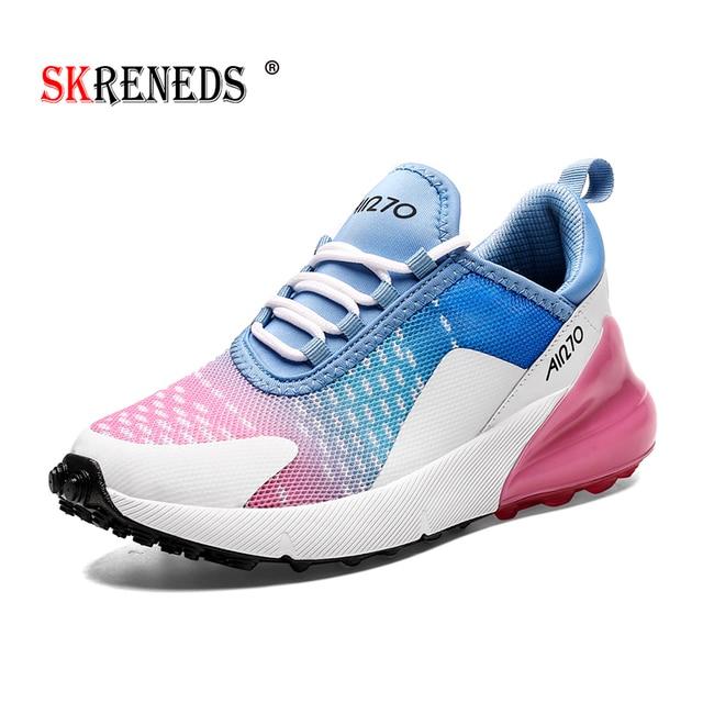 Skrevds احذية الجري الرياضة في الهواء الطلق أحذية رياضية مريحة للتنفس للنساء عالية الجودة زوجين أحذية رياضية