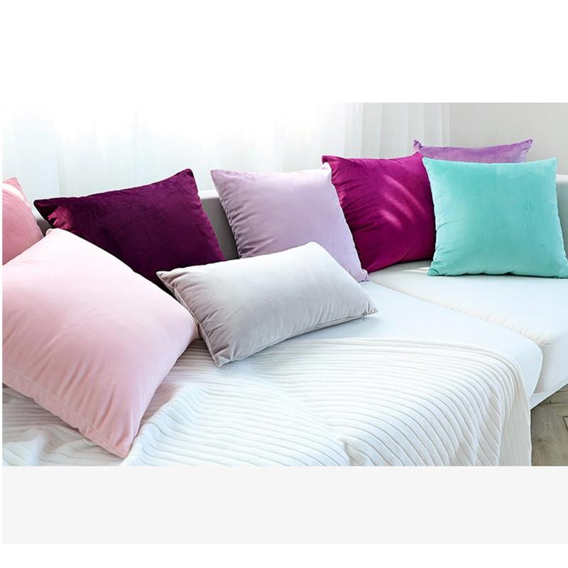 Luxury Velvet Green Blue Gray Cushion Cover Pillow Cover Pillow Case Yellow White Black Home Decorative Sofa Throw Pillows Chair