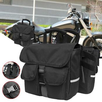 Saddle Bag Motorcycle Waterproof Tank Bags Luggage Saddle Bag Pouch Black Motorcycle Side Tool Bag Universal osah drypak motorcycle waterproof tail bags multi functional durable rear motorcycle seat bag high capacity waterproof pvc bag