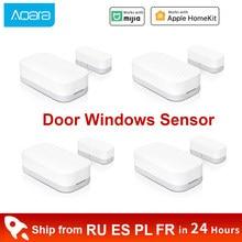Xiaomi Aqara-Sensor de ventana y puerta inteligente Zigbee, conexión inalámbrica, minisensor de puerta, funciona con Hub de entrada para Homekit Mi Home App