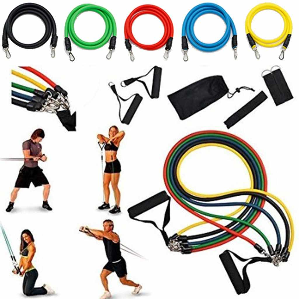 Pull Rope Fitnes Exercises Resistance Bands Latex Tubes Pedal Body Training Yoga