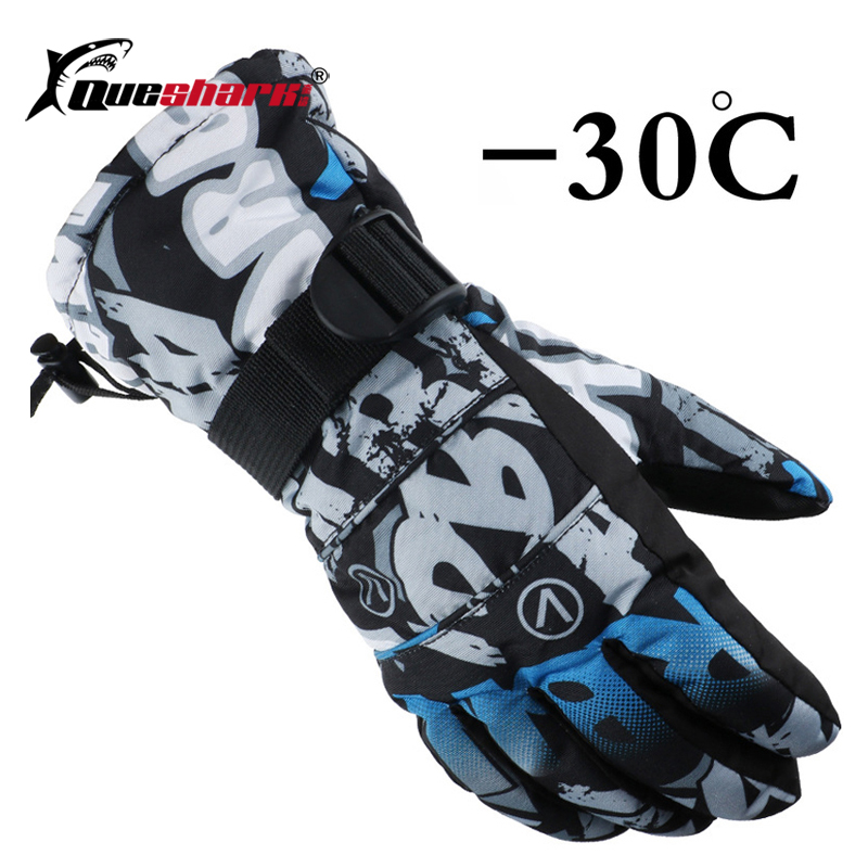 Men Women Kids Waterproof Ski Gloves Couple Winter Warm Gloves Climbing Cycling Motorcycle Windproof Motorcycle Snow Mittens