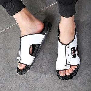 Image 3 - Nam 2020 Xu Hướng Mới Dép Hàn Quốc Thời Trang Triều Giày Đi Biển Giày