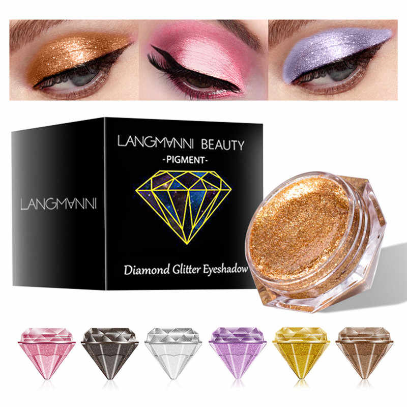 6-Color Diamond Pearl Eye Shadow Liquid Glossy Easy To Color Lasting Waterproof Non-fading Shimmer Eye Shadow Liquid Cosmetics