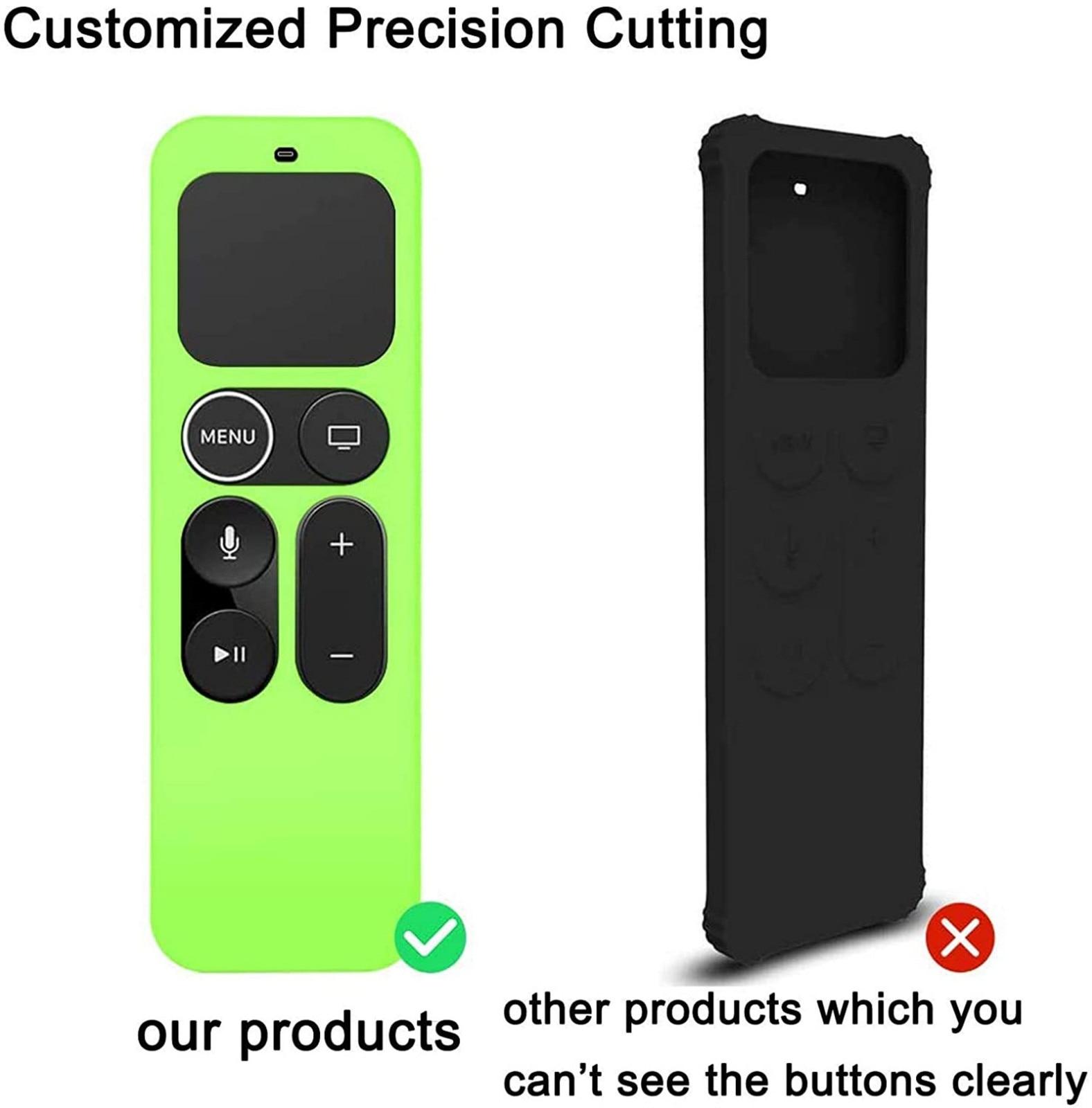 Para apple tv 4k 4th/5th tv vara remoto silicone caso capa protetora pele tv controle remoto capa poeira proteger saco de armazenamento