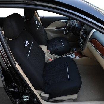 чехол для автокресла   Чехлы Для Автомобильных Сидений  AUTOYOUTH Универсальный Цвет Чёрный и Серый 9 Шт. Набор Маленькие флаги картина Стиль