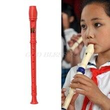 Многоцветный Пластиковый музыкальный инструмент, записывающее устройство, сопрано, длинная флейта, 8 отверстий, Прямая поставка