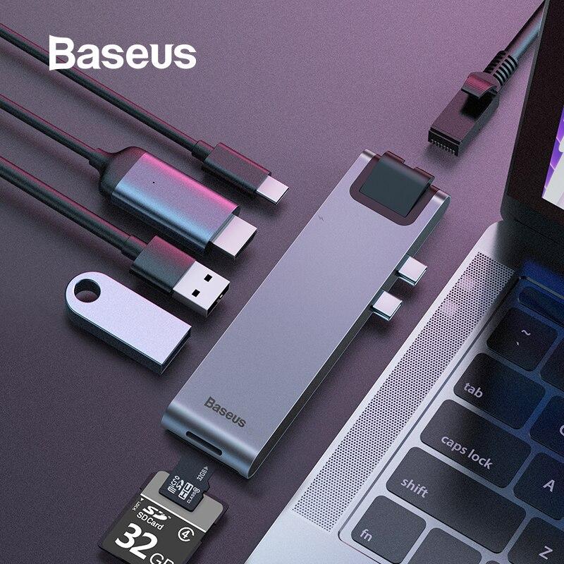 Baseus USB C HUB to Multi USB 3 0 HDMI USB HUB for MacBook Pro USB