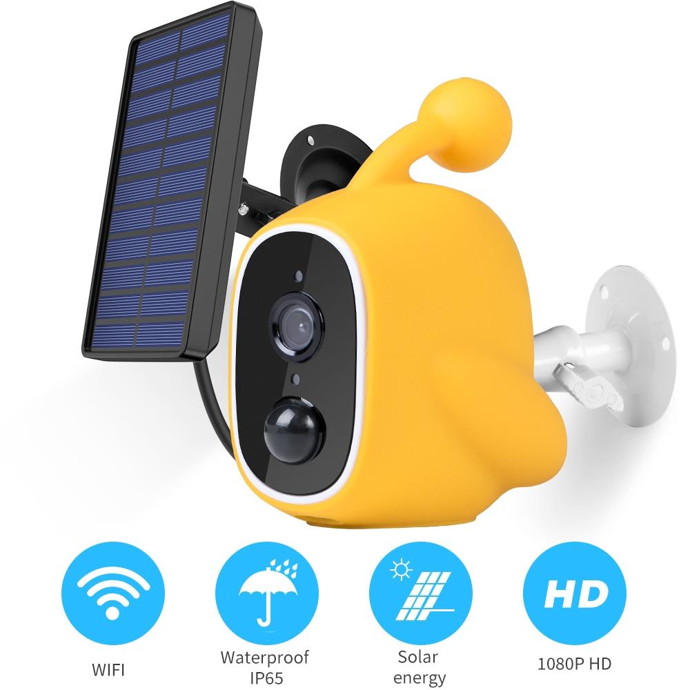1080P Wifi Solar Camera Low Power IP Camera Rechargeable Battery PIR Motion Sensor Security Video Surveillance IP67 Waterdicht