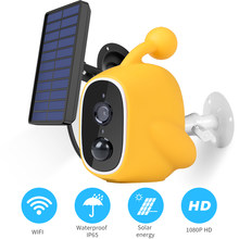 1080P Wifi Solar Camera Low Power IP Camera Rechargeable Battery PIR Motion Sensor Security Video Surveillance IP67 Waterdicht()