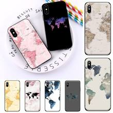 Funda de pasaporte de viaje con mapa del mundo para iPhone, funda de teléfono de alta calidad para iPhone 11 12 mini pro XS MAX 8 7 6 6S Plus X 5S SE 2020 XR