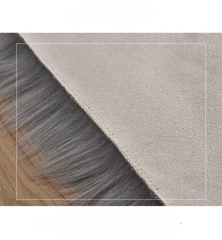 高級フェイクファーホワイト寝室人工ウールソフト毛深いカーペットフィットリビングルームの椅子パッドソファシャギーエリアフロアマット