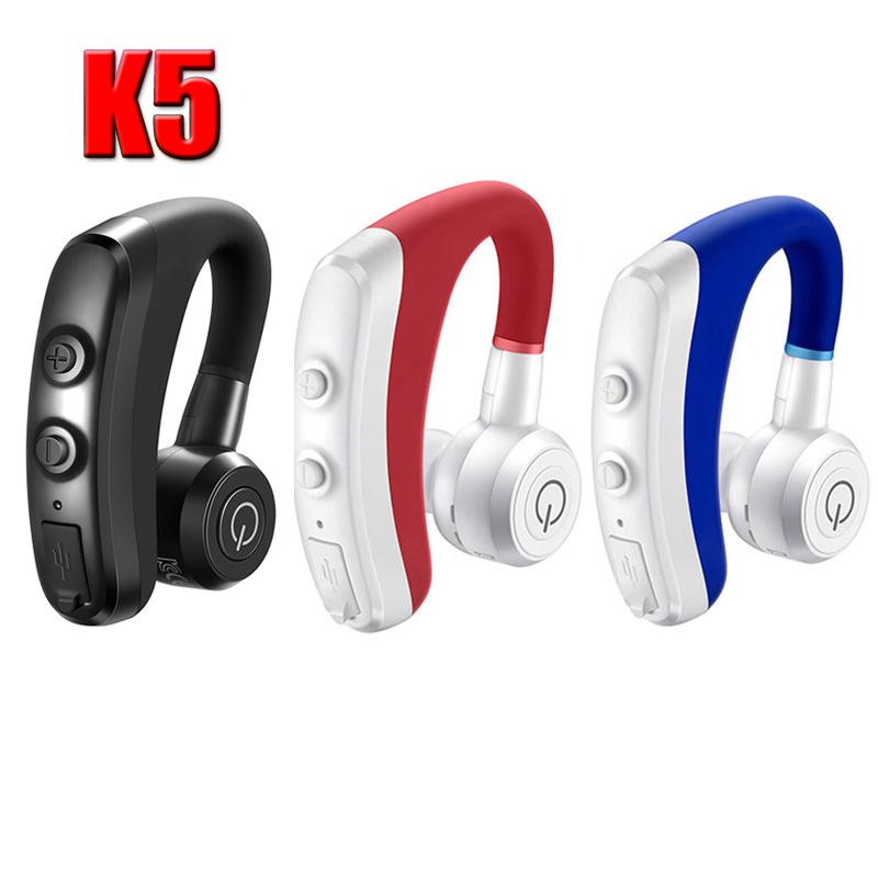 K5 Wireless Headphone Bluetooth 4.1 Earphone Sports Leisure Ear Hook Business Car Headset With Microphone For IOS Android Laptop
